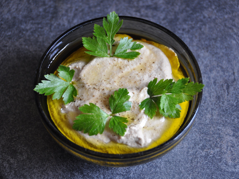 Baba Ghanoush (Middle Eastern roasted eggplant dip)