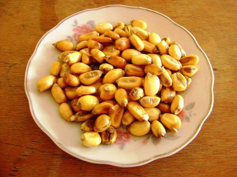 Bowl of cancha toasted corn snack