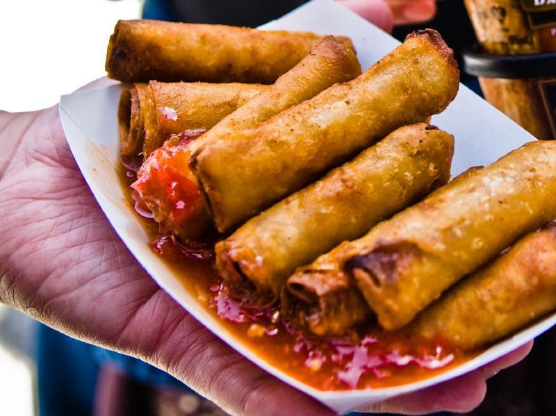 Lumpia Shanghai (Filipino meat-filled eggrolls)