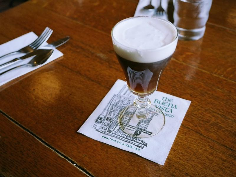 An Irish coffee at the Buena Vista in San Francisco