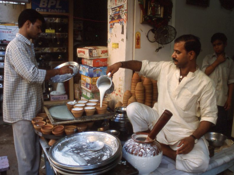 Indian lassi vendor