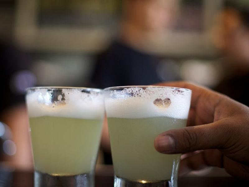 Pisco sour cocktails