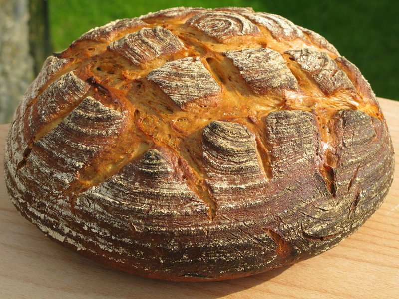 Bauernbrot (German farmer-style rye bread)