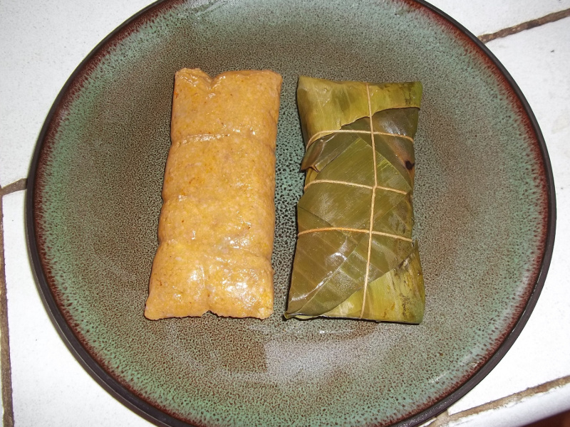 Pasteles Recipe Puerto Rican Savory Cakes In Banana Leaves