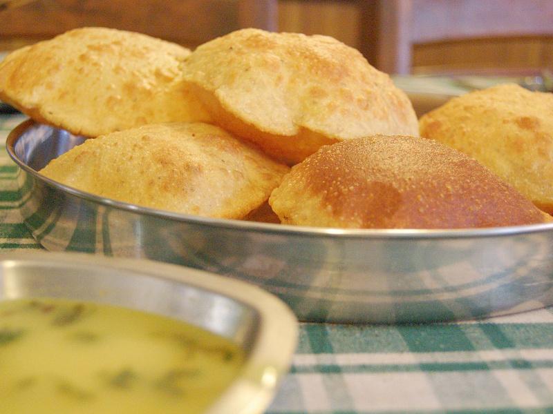 Puri, or Poori (Indian, Pakistani deep-fried puff bread)