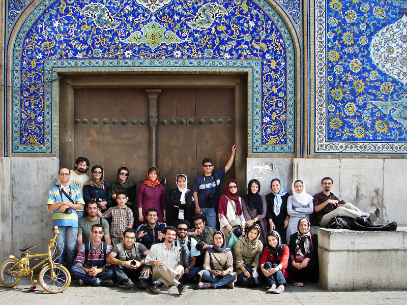 Family and friends in Isfahan, Iran