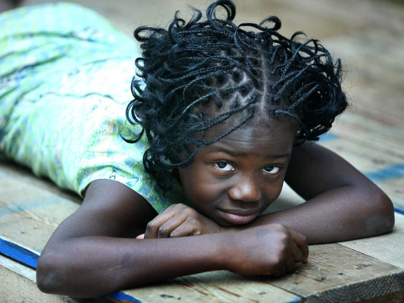 Young girl in Abidjan, Cote d'Ivoire