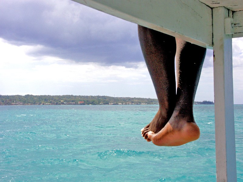 Dangling legs in Jamaica