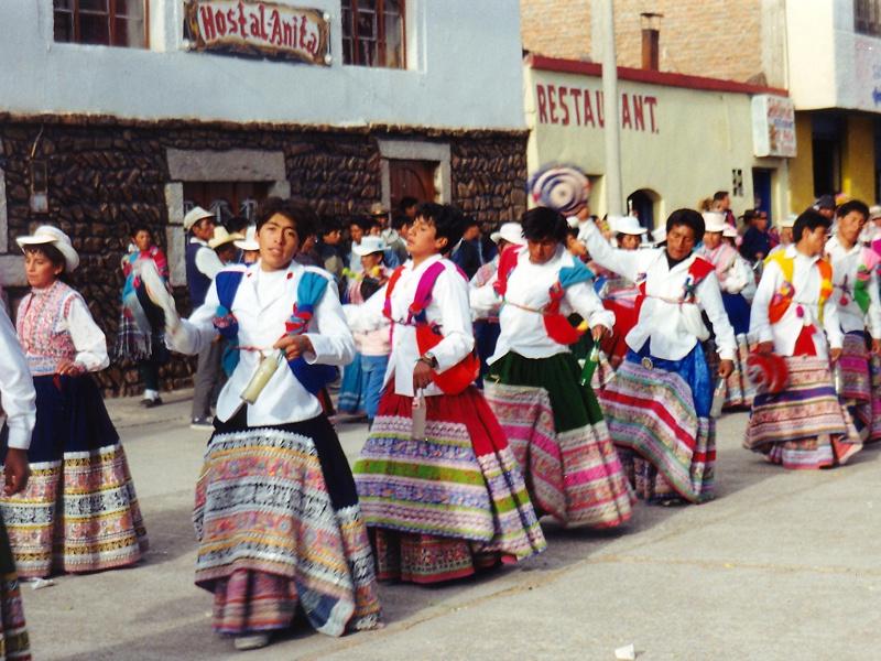 Festival procession in Chivay, Peru