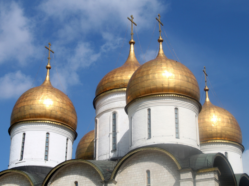Kremlin spires in Moscow, Russia