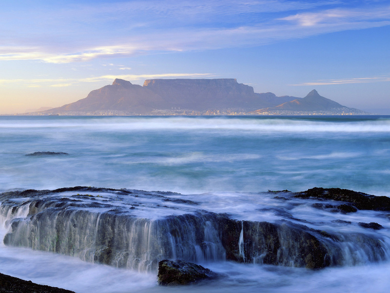 Table Mountain above Cape Town, South Africa