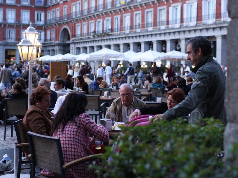Plaza market in Madrid, Spain