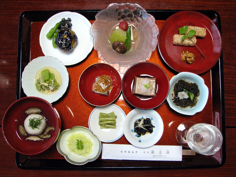 Japanese temple meal