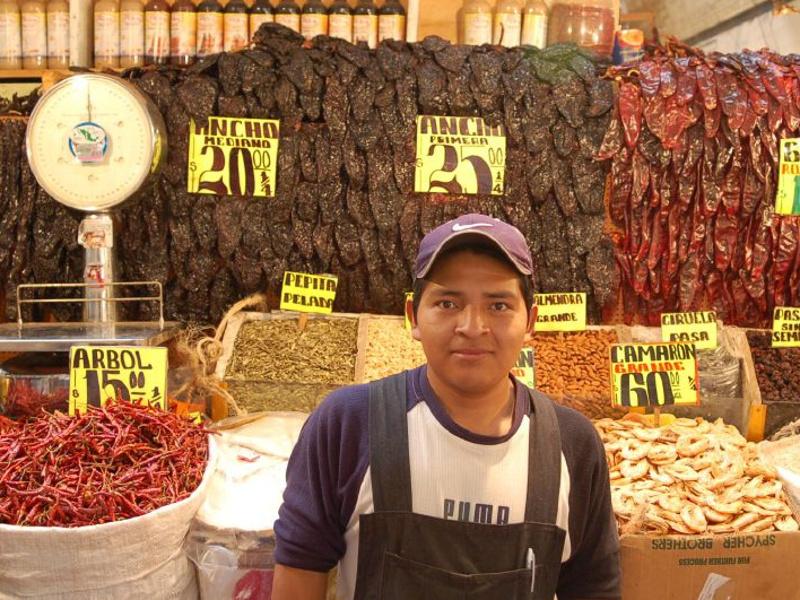 Mexican chile vendor
