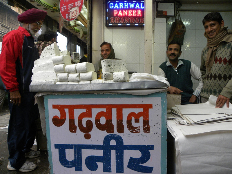 Delhi paneer vendor