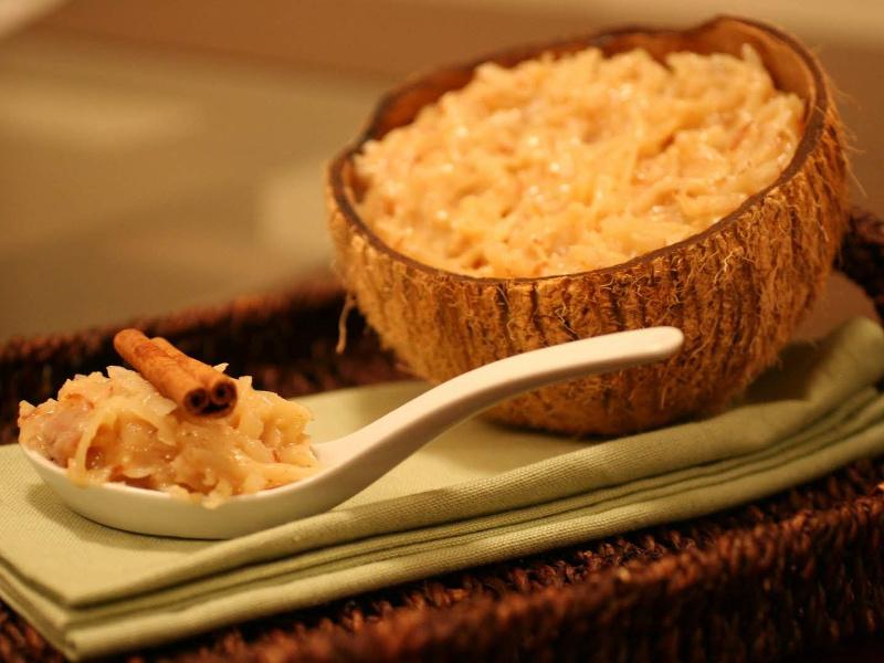 Cocada Amarela (Angolan coconut custard)