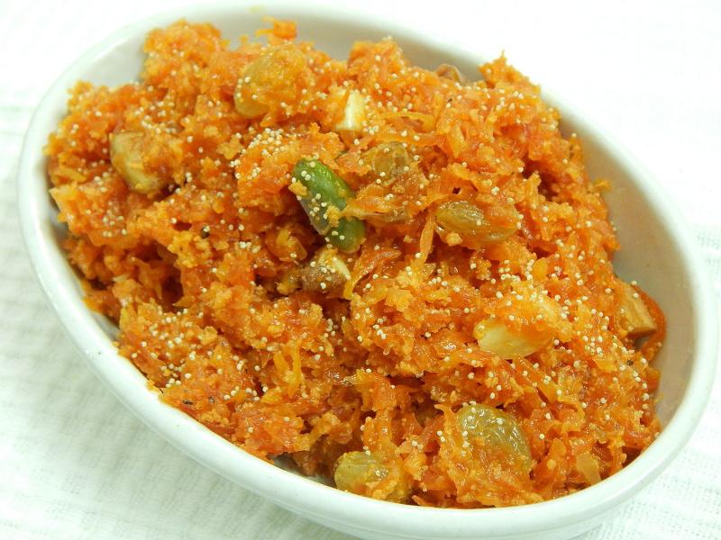 Gajar halwa sweet carrot pudding