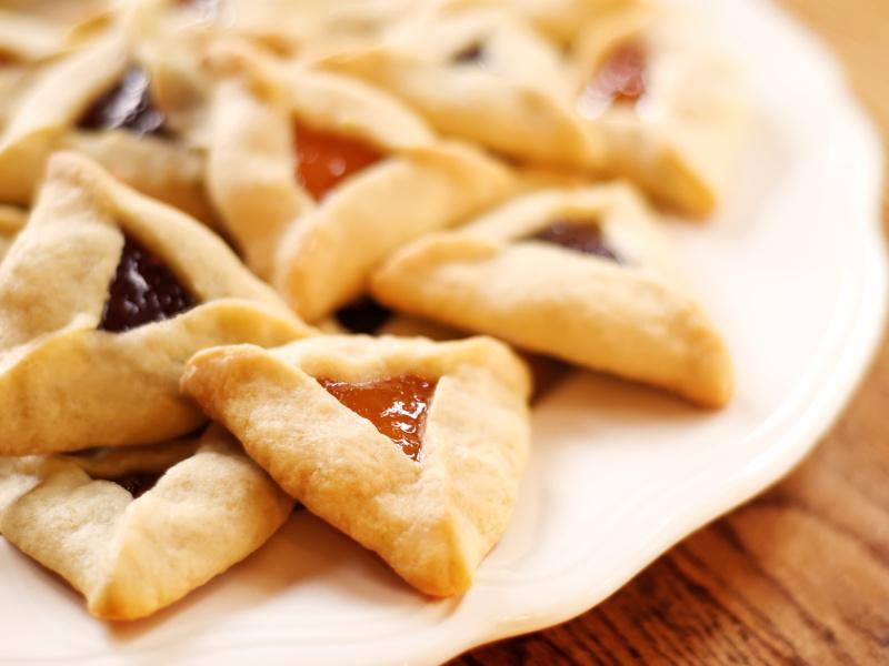 Hamantaschen (Israeli, Jewish filled pastries)