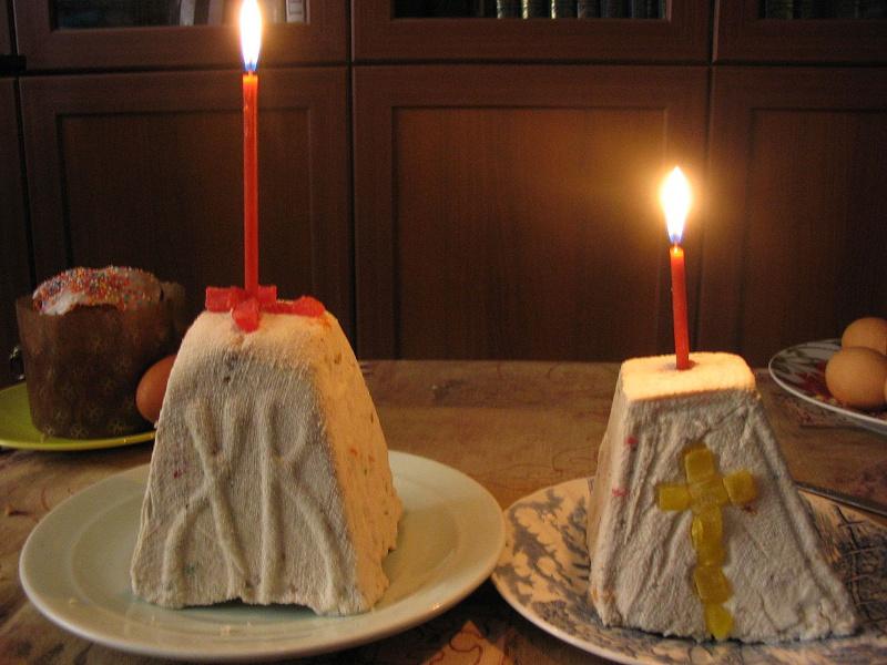 Pashka (Eastern Orthodox molded Easter cheesecake)