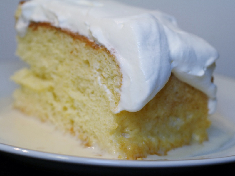 Pastel de tres leches recipe central american cake of three milks slice of tres leches cake forumfinder Image collections