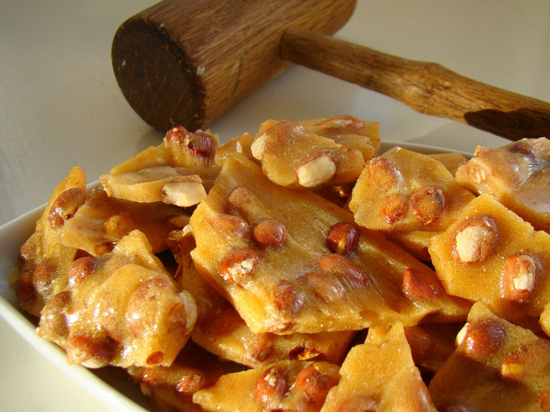 Peanut brittle ready to enjoy