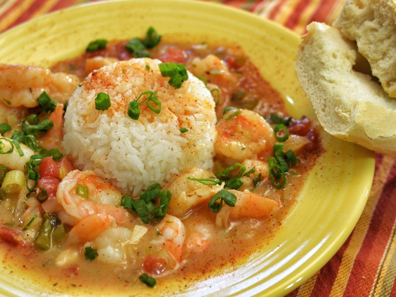Bowl of shrimp etouffee
