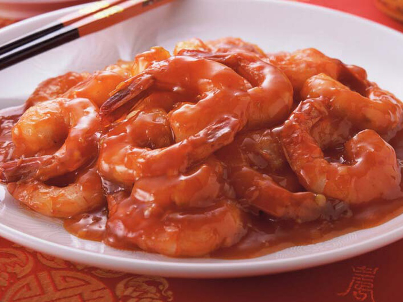 Chinese shrimp in tomato sauce