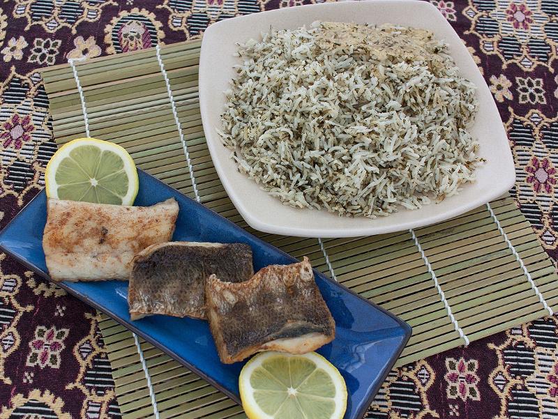 Sabzi Polo (Persian herbed rice)