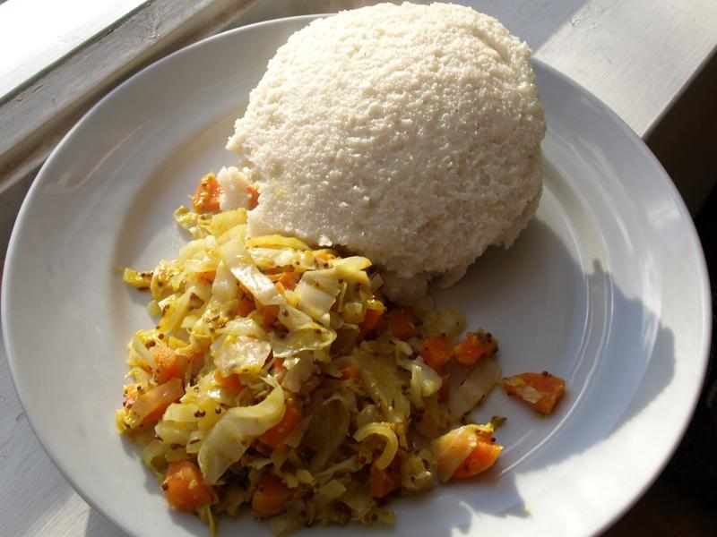Ugali (East African cornmeal mush)