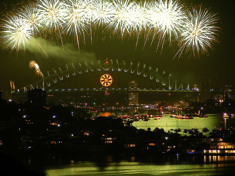 New Year's fireworks over Sydney