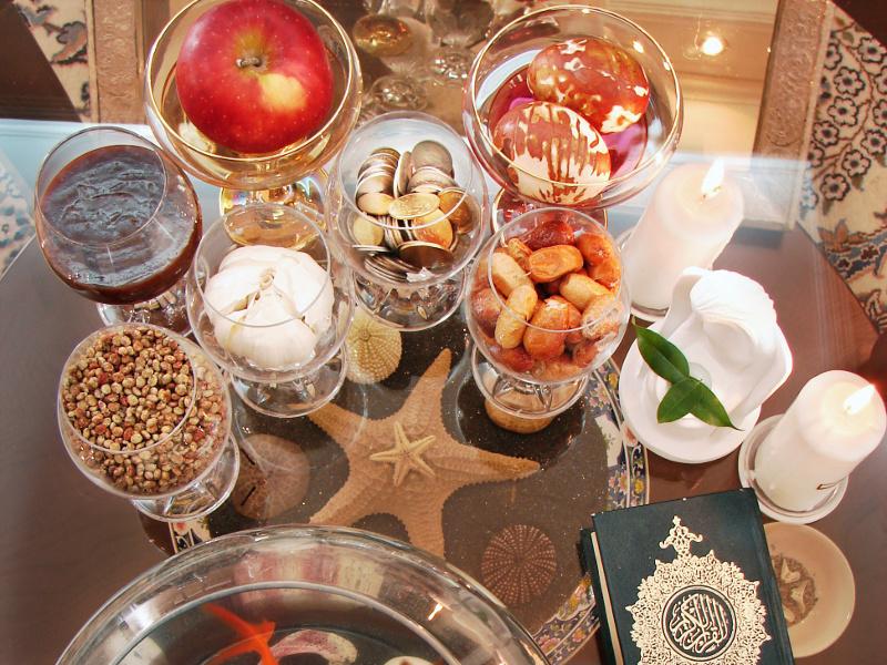 Nowruz Haft Sin table setting