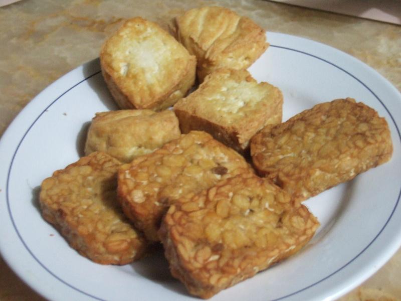 Tempeh and tofu