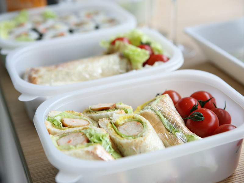 Kid-friendly bento box lunches