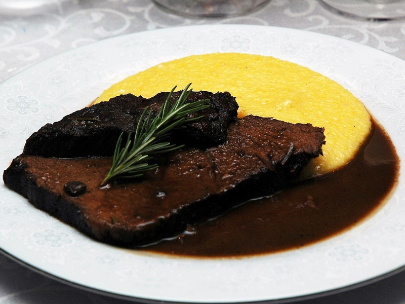 Brasato with polenta
