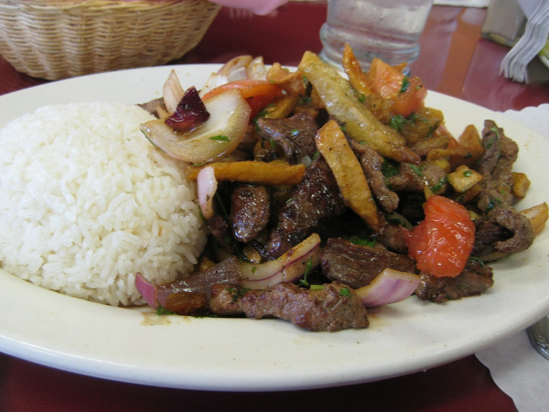 Lomo Saltado (Peruvian beef and potato stir fry)