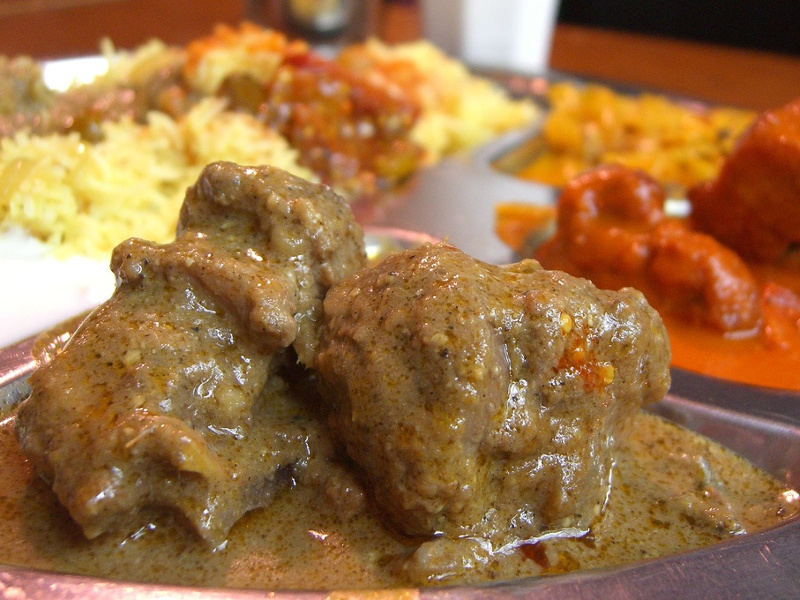 Shahi Korma (Indian lamb in a creamy nut curry sauce)