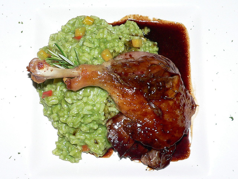 Arroz con pato Peruvian duck with rice