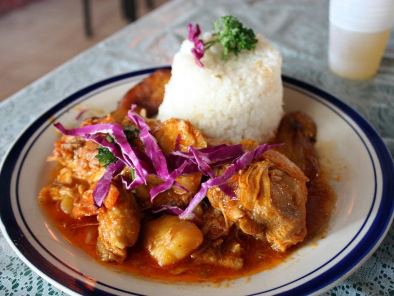 Caribbean chicken fricassee