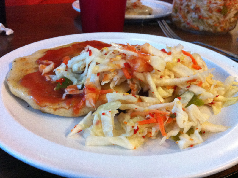 Pupusas with curtido