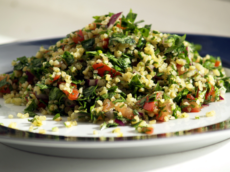 Tabouli (Middle Eastern bulgur and parsley salad)