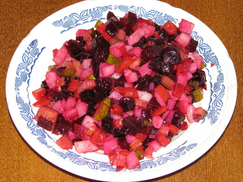 Vinegret Russian cold vegetable salad