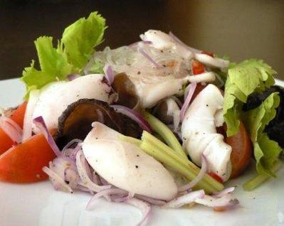 Yum Pla Muk Recipe (Thai spicy squid salad)