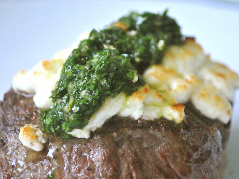 Chimichurri (Argentine parsley-garlic sauce for grill meats)