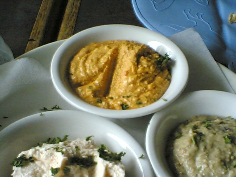Htipiti (Greek feta and roasted red pepper dip)