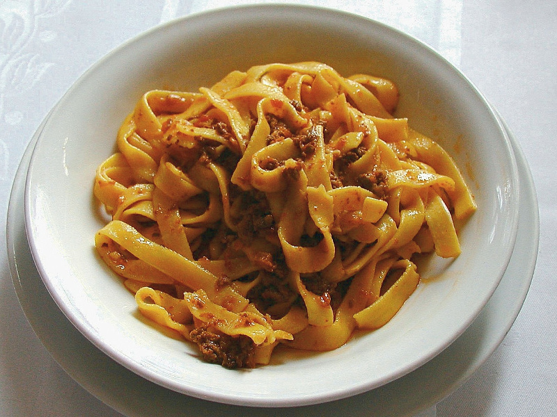 Bowl of pasta bolognese