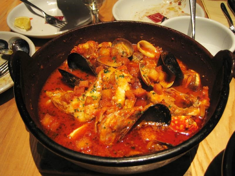 Bouillabaisse in a pot
