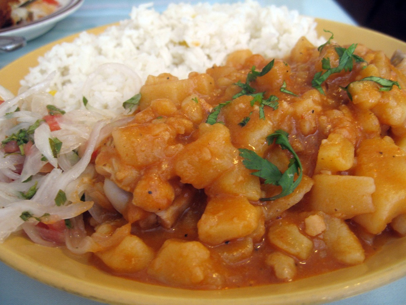 Carapulcra (Peruvian pork and freeze-dried potato stew)
