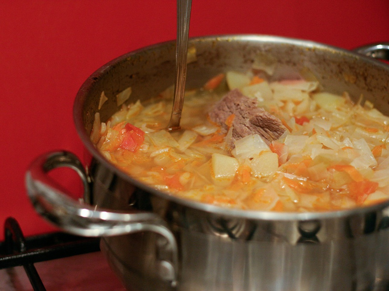Shchi (Russian cabbage soup)