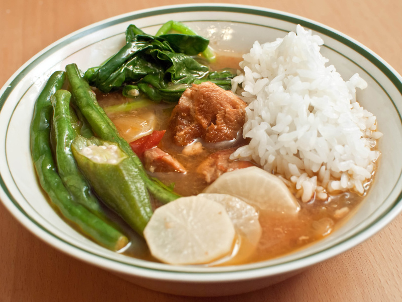 Sinigang Na Baboy Recipe Filipino Sour Pork And Vegetable Stew Whats4eats