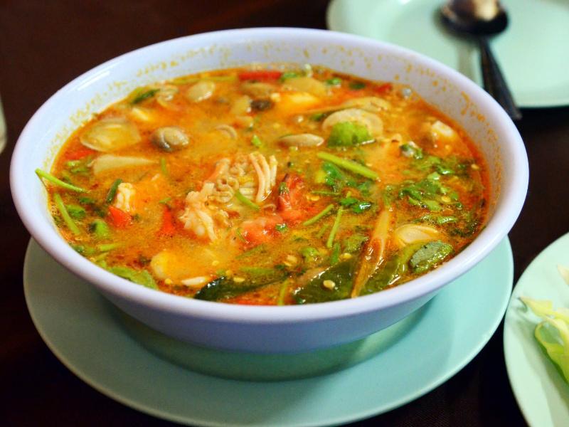 Bowl of tom yum kung